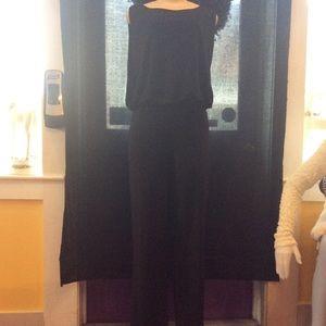 Laundry by Shelli Segal black open back jumpsuit